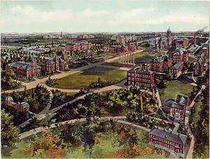 Campus de Columbia (Misuri), donde transcurrió buena parte de la vida del protagonista.